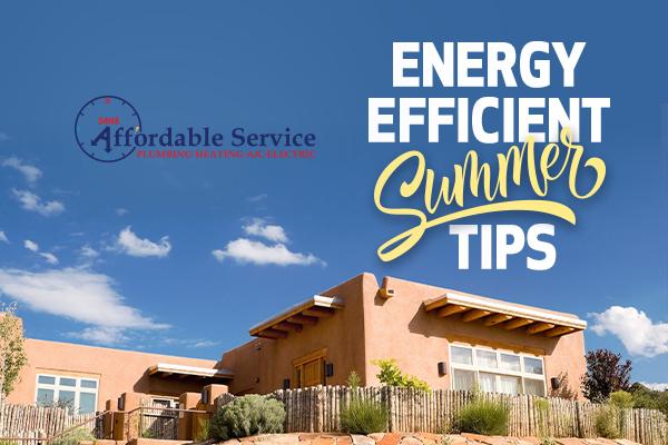 Energy Efficient Summer Tips